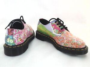 DR MARTENS Shoes Smiths Daze Floral Roses PSYCHEDELIC Multi Oxfords Womens $219