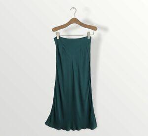 Urban Outfitters Bias Midi Skirt Green Size S
