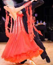 Ballroom Dance Standard Competition Dress Bright Yellow/BlackFeathers sz 2/4