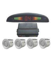 Reversa Sensores De Estacionamiento 4 Sensores de Kit con pantalla LED y un zumbador --- siiver