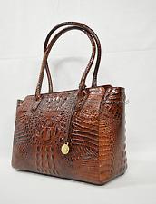 NWT! Brahmin Ashby Tote/Shoulder Bag in Pecan Melbourne Embossed Leather