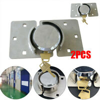 2pcs Hidden Shackle Padlock Van Garage Shed Door Cargo Trailer Round Secure Lock