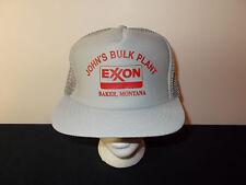 VTG-1980s Exxon Johns Bulk Plant Baker Montana Gas Oil Staion Service hat sku17