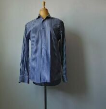 Paul Smith 100% Cotton Men's Dress Shirt Blue/White Striped Used Size 38/15