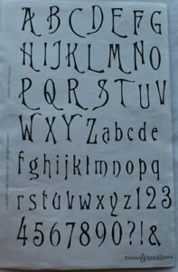 Club Scrap TUSCANY October 2002 Unmounted Rubber Stamps NEW ~ Alphabet & Numbers