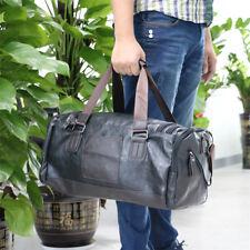 Men Large Leather Luggage Duffle Weekend Travel Gym Bag Hand/Shoulder Sports Bag