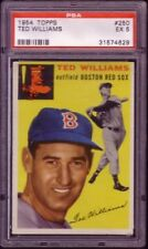 1954 TOPPS TED WILLIAMS CARD NO:250 PSA 5 EX CONDITION