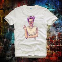 Frida Kahlo Art Design Hipster Cool Retro Vintage Unisex Ladies T Shirt 10b