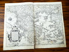 Original Antique 16th C Map Of Greece 1573 Graeciae Regni Potentiss Ortelius Map