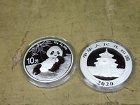 China , 2020 , 10 Yuan , 30 gramm Silber , Panda