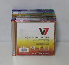 V7 CD DVD Leerhülle Slim (20-er Pack) 4x orange,4x rot,4x lila,4x grün,4x blau