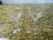 Rosenthal Crystal Lotus Blossoms Set of 2 Sherry Goblets 5 1/4""