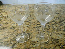 """Rosenthal Crystal Lotus Blossoms Set of 2 Sherry Goblets 5 1/4"""""""