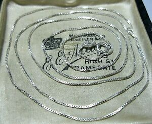 """Sterling Silver 30"""" Long 76 cm Box Chain NECKLACE 3.10g"""