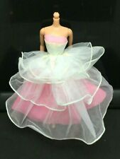 1989 Dance Magic Barbie Doll White Pink Ball Gown Dress #4836