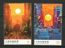 REP. OF CHINA TAIWAN 2020 SUNSETS OF TAIWAN CITY COMP. SET OF 2 STAMPS MINT MNH