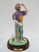 "Vintage Emmett Kelly Jr ""GOLFER"" Clown w/ Dog Figuring w/ Base by Flambro"