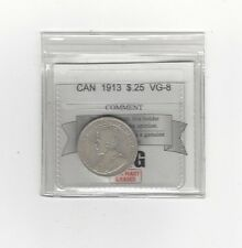 **1913**, Coin Mart Graded Canadian, 25 Cent, **VG-8**