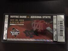Notre Dame vs Arizona State 10/05/2013 College Football Ticket Stub AT&T Stadium