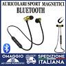 Auricolari Bluetooth Sport Magnetici Cuffie Wireless con microfono oro universal