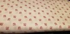 50/50 Spartex Cotton/Poly Fabric Doublecloth calico Country Rose 3 yards x 90 in