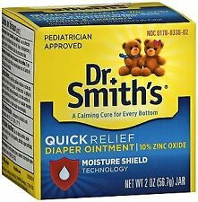 Dr. Smith's Quick Relief Diaper Ointment with Moisture Shield 2 oz (Pack of 5)