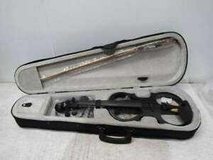 Cecilio 4/4 CEVN-1BK Solid Wood Electric/Silent Violin with Ebony Fittings