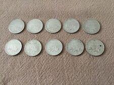 France Suite de 10 pièces en argent 50 centimes 1909 à 1918