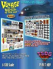 TSDS 109 x 1/128 Seaview Submarine Decal Set for Moebius