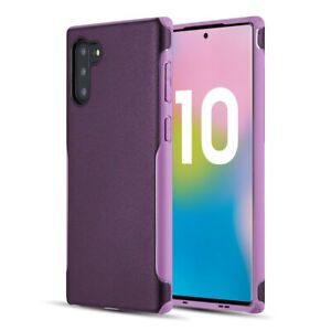 Purple Hybrid Shock Proof Full Body Bumper Case Cover For Samsung Galaxy Note 10