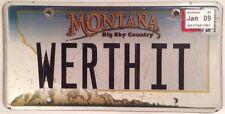 Vanity WORTH IT license plate Value Money Muscle Boat Car House Love Bike Dollar