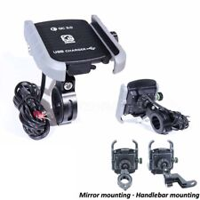 Motorcycle Phone Holder USB Charger For Harley Davidson Street Glide Touring FLH