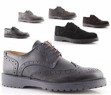 scarpe francesine uomo made in italy vera pelle nero blu grigio invernali casual