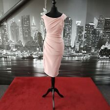 Fitted Dress (Blush-Size 10) Prom, Ball, Pageant, Cruise, Wedding, Cocktail