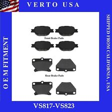 Front & Rear Brake Pads For Toyota Celica GTS 2000 2001 2002 2003 2004 2005