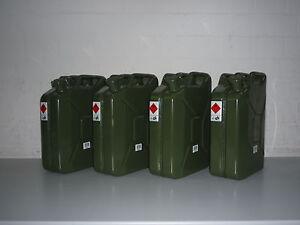 Benzinkanister Metallkanister 20 Liter - 4 Stück -  4 x 20 Liter Kanister
