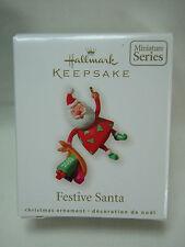 2010 Hallmark Keepsake Ornament Festive Santa Miniature #2