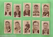 1933 VFL FOOTBALLERS WILLS CIGARETTE  CARDS #1 to #100 MISSING #63, 99 DIFFERENT