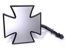 Spiegel Malteser Eisernes Kreuz Iron Cross Schwarz Black für HD Harley Chopper !