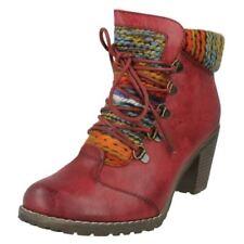 Stivali e stivaletti da donna rossi cerniera , Numero 38,5