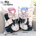 Anime Re:Zero Rem & Ram Dakimakura Cushion Throw Pillow Case Cover 2WT 35x55cm