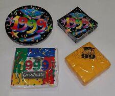 Plates Napkins Lot Class of 1999 Graduate Graduation Party Supplies Reunion