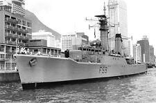 ROYAL NAVY SALISBURY CLASS FRIGATE HMS CHICHESTER IN HONG KONG c 1975