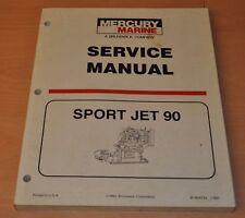 Mercury Mariner Outboards Sport Jet 90 1993 Außenbordmotor Werkstatthandbuch
