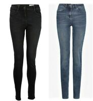 Women`s New NEXT Skinny Stretch Mid Rise Jeans UK Size 6 to 22 in 5 Colours