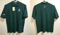 Mens XL Cutter & Buck Green Golf Polo Shirt Short Sleeve AMP ENERGY Embroidered