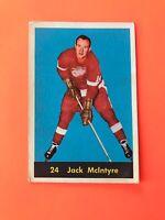 JACK McINTYRE 1960-61 PARKHURST HOCKEY CARD #24 DETROIT RED WINGS