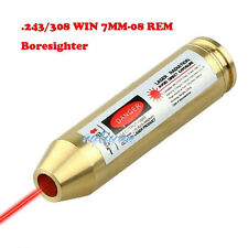 US .243/308WIN 7MM-08REM Boresighter Cartridge Red Dot Laser Bore Sight Brass