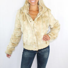 NWT $380 VINTAGE JUICY COUTURE BLONDE FAUX FUR HOODIE HOODED JACKET COAT SZ XL