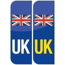 Pair of UK Flag Union Jack Badge Car Number Plate Vinyl Sticker UK legal not EU